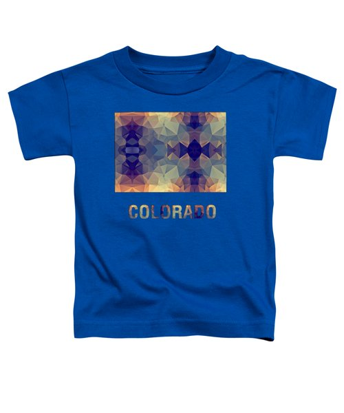 Polygon Mosaic Parchment Map Colorado Toddler T-Shirt