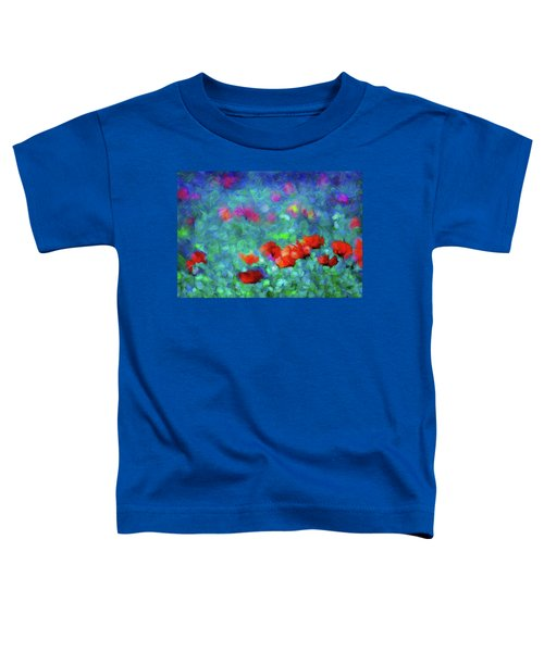 Poppies In The Wind Expressionism Toddler T-Shirt