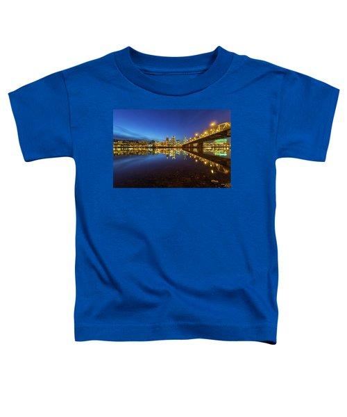 Portland Downtown Blue Hour Toddler T-Shirt