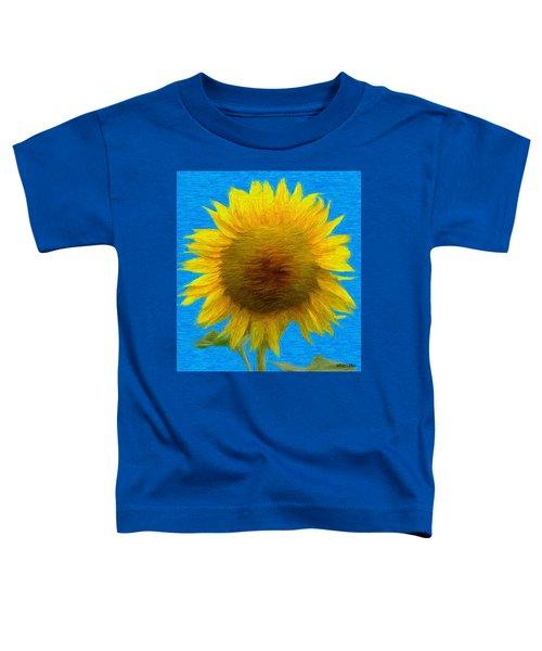 Portrait Of A Sunflower Toddler T-Shirt