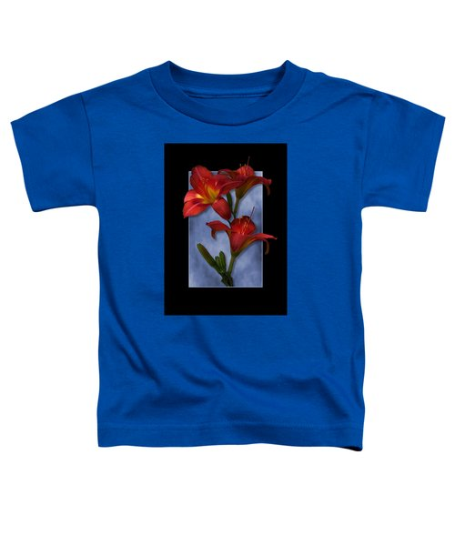 Portrait Of Red Lily Flowers Toddler T-Shirt