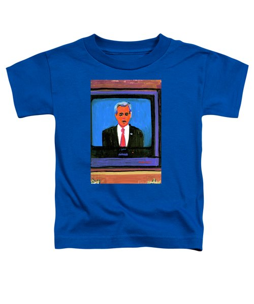President George Bush Debate 2004 Toddler T-Shirt by Candace Lovely
