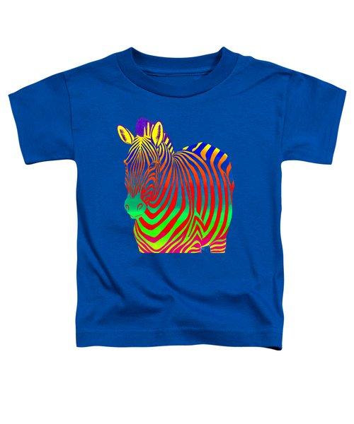 Psychedelic Rainbow Zebra Toddler T-Shirt