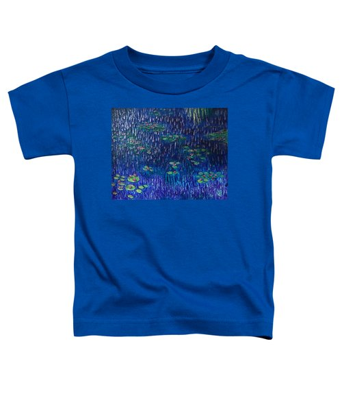 Purple Rain On Water Lilies Toddler T-Shirt
