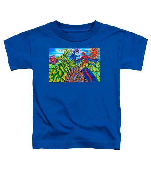 Quetzalcoatl, Peacock And Scarlet Macaw Women Of Belize Toddler T-Shirt