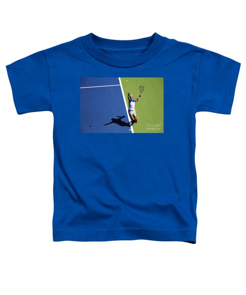 Rafeal Nadal Tennis Serve Toddler T-Shirt by Nishanth Gopinathan