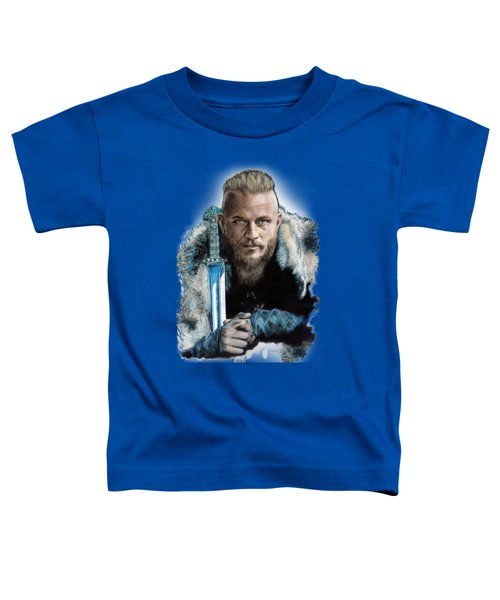 Ragnar Lothbrok Toddler T-Shirt by Melanie D