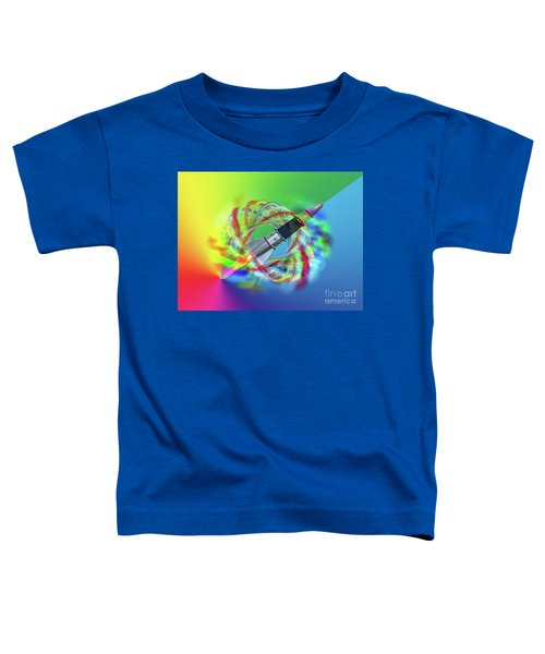 Rainbow Rocket Orbits Toddler T-Shirt