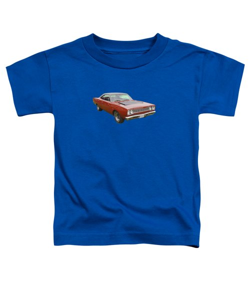 Red 1968 Plymouth Roadrunner Muscle Car Toddler T-Shirt by Keith Webber Jr