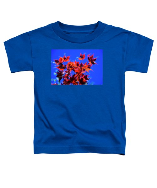 Toddler T-Shirt featuring the photograph Red Maple Leaves by Yulia Kazansky