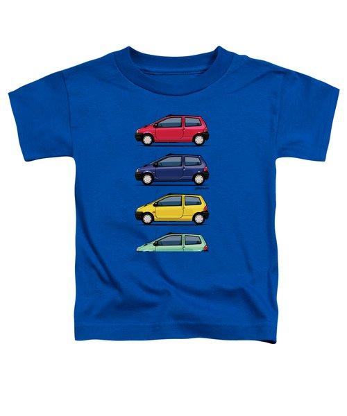 Renault Twingo 90s Colors Quartet Toddler T-Shirt by Monkey Crisis On Mars