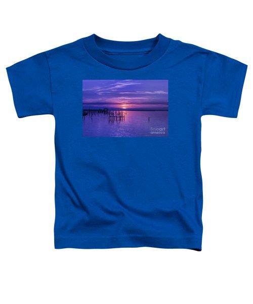 Rest Well World Purple Sunset Toddler T-Shirt