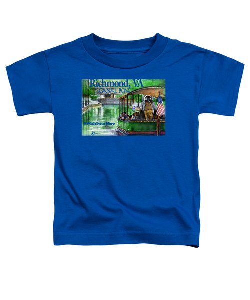 Richmond Va Canal Boat Toddler T-Shirt
