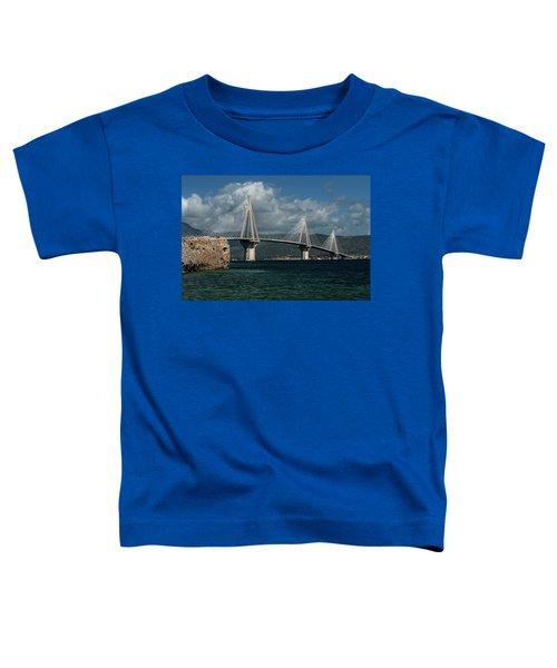 Toddler T-Shirt featuring the photograph Rio-andirio Hanging Bridge by Jaroslaw Blaminsky
