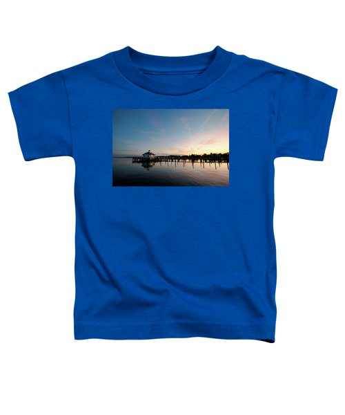 Roanoke Marshes Lighthouse At Dusk Toddler T-Shirt
