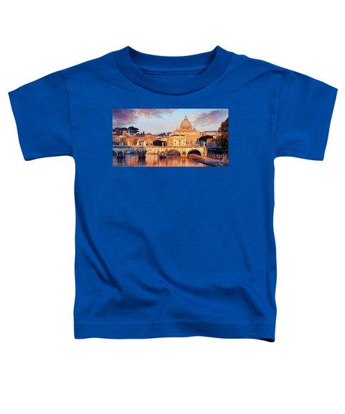 Rome The Eternal City - Saint Peter From The Tiber Toddler T-Shirt