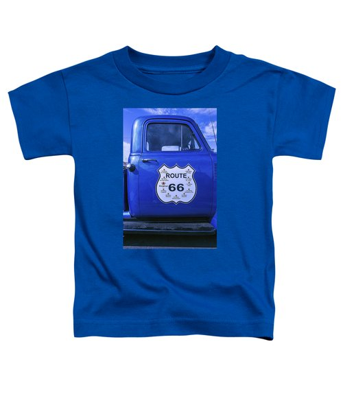Route 66 Blue Truck Toddler T-Shirt