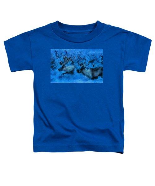 Running Deers - Da Toddler T-Shirt