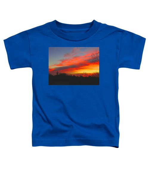 Saguaro Winter Sunrise Toddler T-Shirt