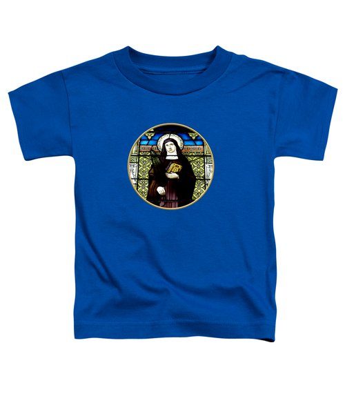 Saint Amelia Stained Glass Window In The Round Toddler T-Shirt