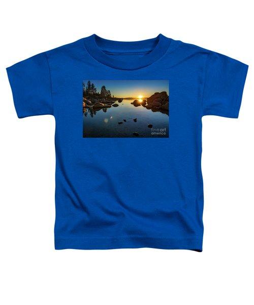 Sand Harbor Sunset Toddler T-Shirt