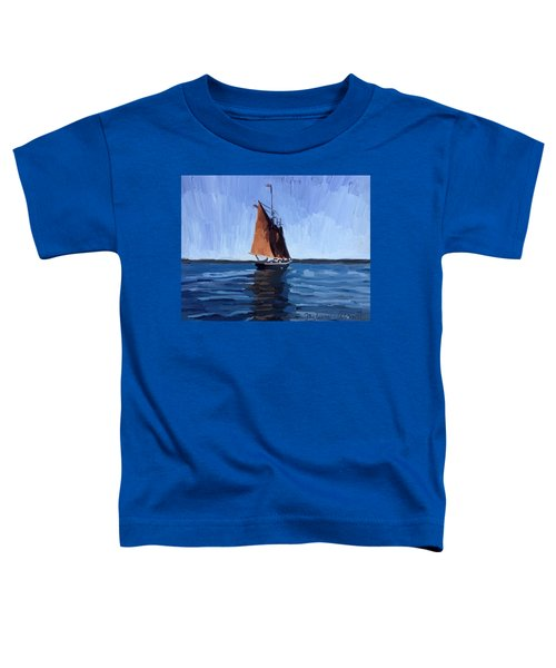 Schooner Roseway In Gloucester Harbor Toddler T-Shirt