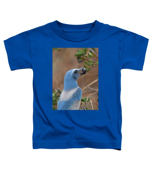 Scrub Jay With Acorn Toddler T-Shirt