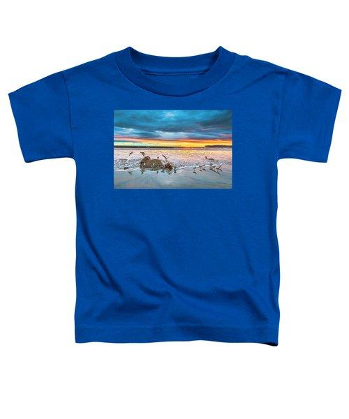 Seagull Sunset Toddler T-Shirt