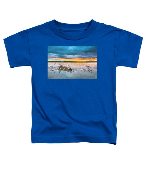 Seagull Sunset Toddler T-Shirt