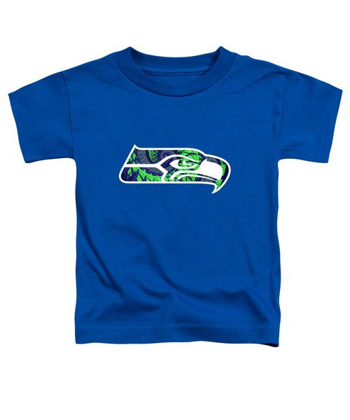 Seahawks Fractal Toddler T-Shirt