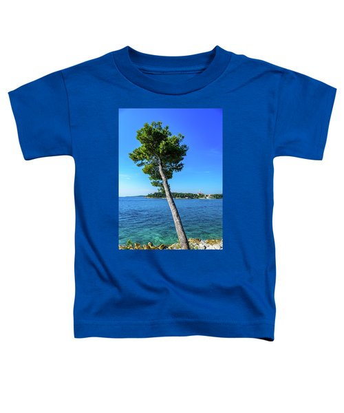 Seaside Leaning Tree In Rovinj, Croatia Toddler T-Shirt