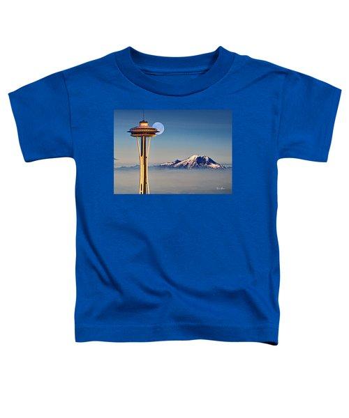 Seattle Needle At Moonrise Toddler T-Shirt