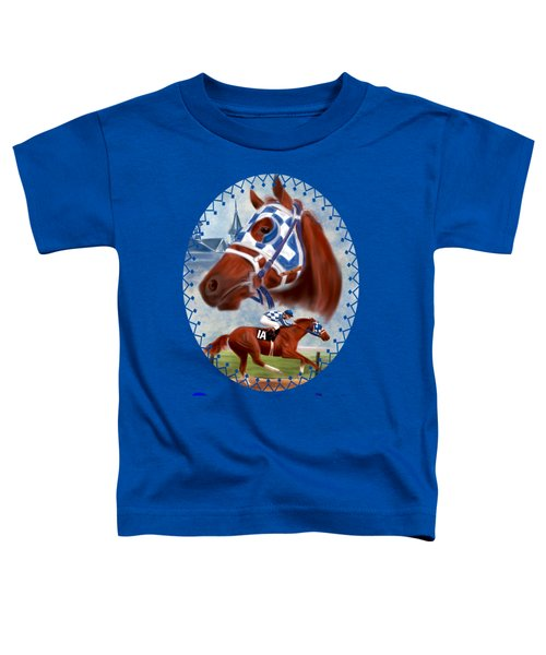 Secretariat Racehorse Portrait Toddler T-Shirt