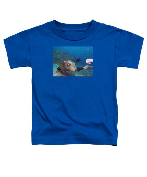 Shaking Hands And Fins Toddler T-Shirt