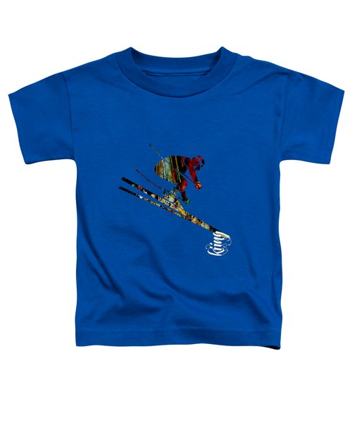 Skiing Collection Toddler T-Shirt by Marvin Blaine