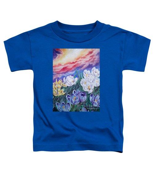 Flygende Lammet Productions      Snow Crocus Toddler T-Shirt