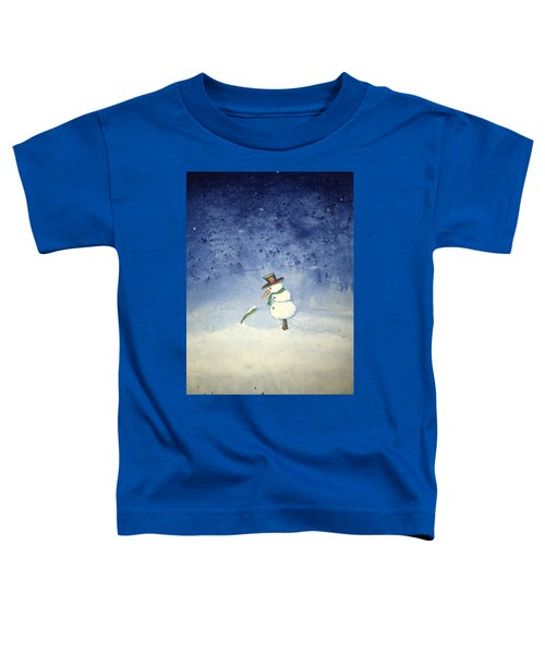 Toddler T-Shirt featuring the painting Snowfall by Antonio Romero