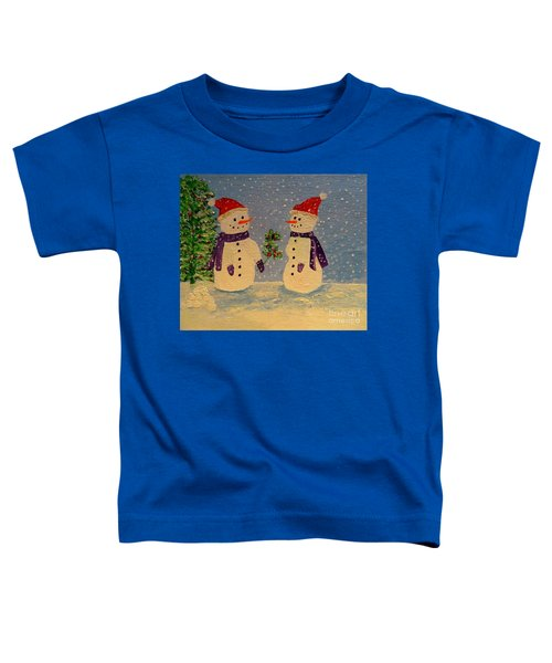 Snow-people At Christmas Toddler T-Shirt