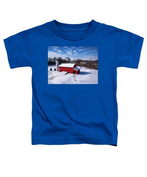 Snowy Barn Toddler T-Shirt