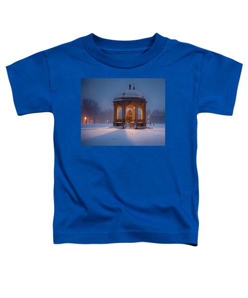 Snowy Night On The Salem Common Toddler T-Shirt
