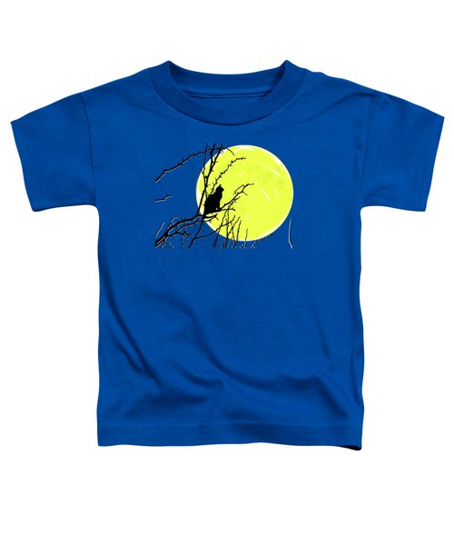 Solitary With Golden Moon Toddler T-Shirt