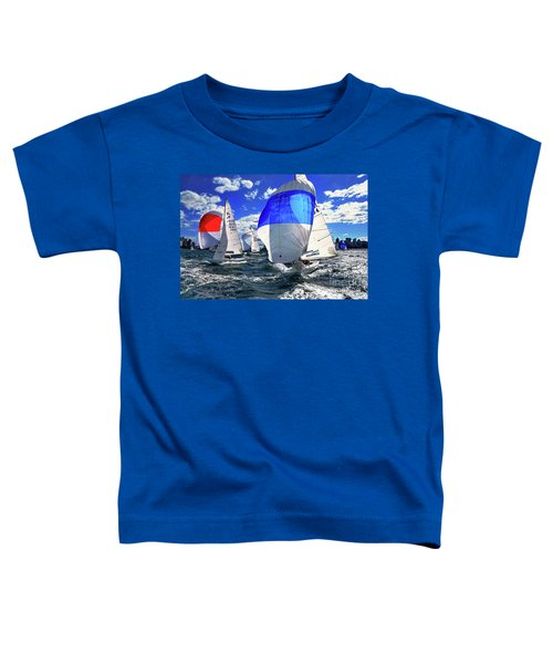 Spinnakers And Sails By Kaye Menner Toddler T-Shirt