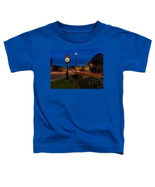 Stadium Clock During The Blue Hour Toddler T-Shirt