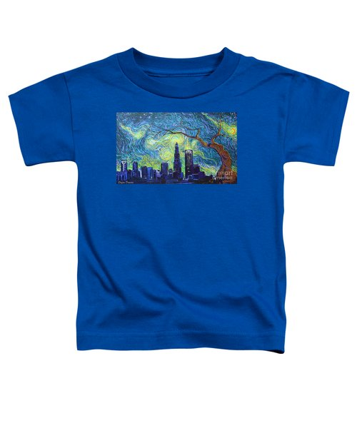 Starry Night Over The Queen City Toddler T-Shirt