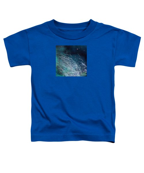 Toddler T-Shirt featuring the photograph Starry Sky Grass by Yulia Kazansky