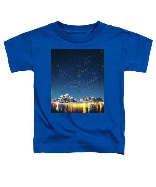 Startrails Above Reine Toddler T-Shirt