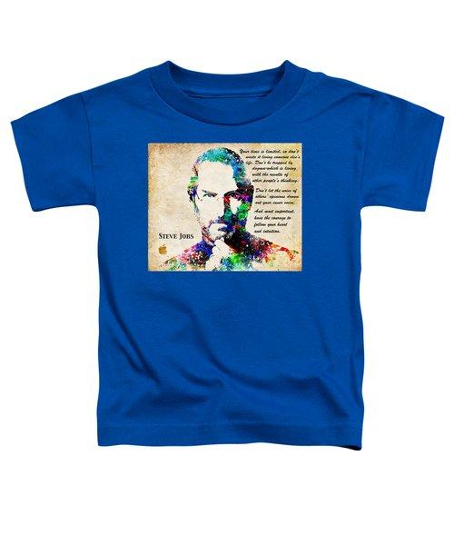 Steve Jobs Portrait Toddler T-Shirt