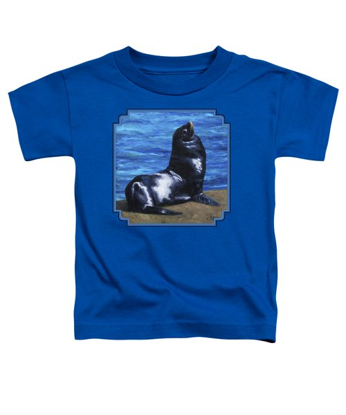 Sun Bathing Sea Lion Toddler T-Shirt