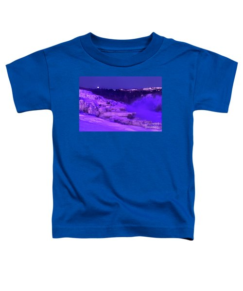 Sunrise And Moonset Over Minerva Springs Yellowstone National Park Toddler T-Shirt