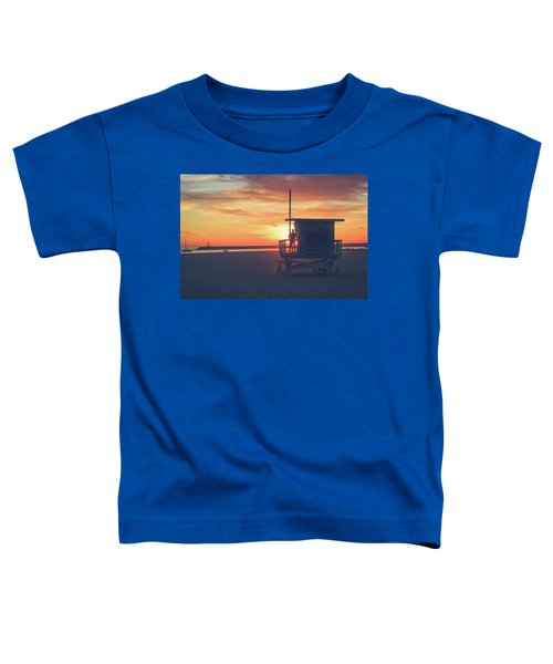 Sunset At Toes Beach Toddler T-Shirt